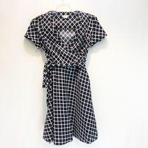 BODEN Sz 10/uk 14 Cotton- Navy & White Dress